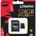 KINGSTON 128GB MICRO SDC 100MB/S C10